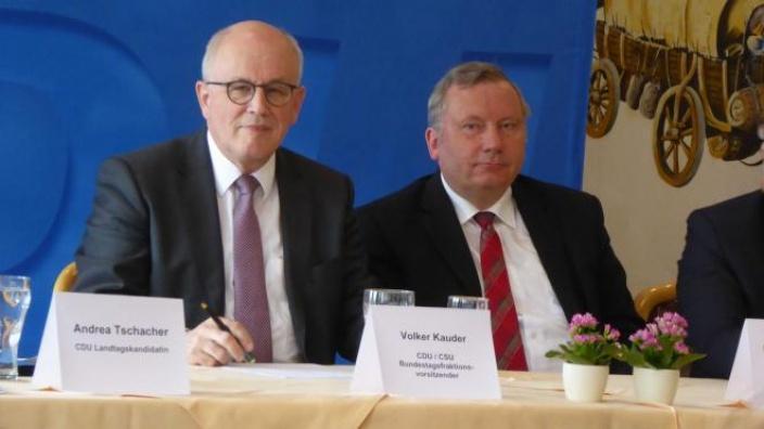 Volker Kauder in Lauenburg